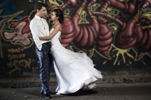 fotograf ślubny kraków - graffitti